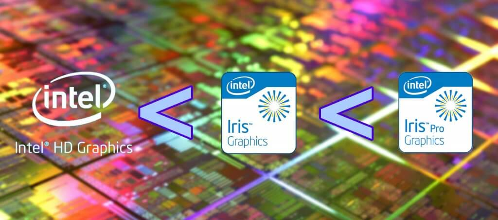 HD Graphics, Iris Graphics, Iris Pro Graphics